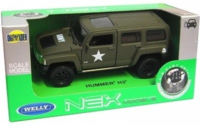 Welly  Hummer H3 Armor Squad  model 1:34 zelený